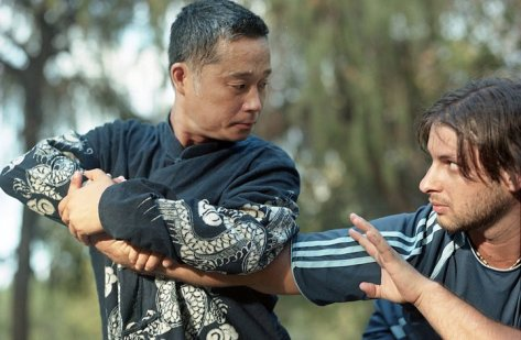 Zhou shifu, with one of his top students, Ben Bario from Israel.HaYarkon Park, Tel-Aviv, Israel, August 2010.